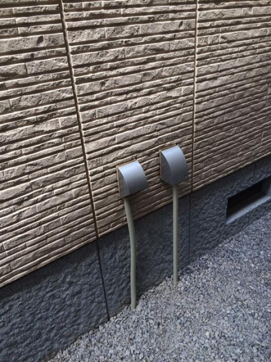 埼玉県深谷市 外部センサーライト追加工事 H27.6.10